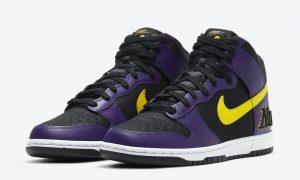 Nike Dunk High EMB Lakers DH0642-001发售日期