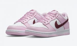 Nike Dunk Low GS White Pink Red CW1590-601发售日期