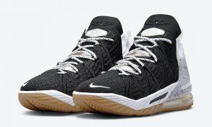 Nike LeBron 18 Black Gum CQ9283-007发售日期