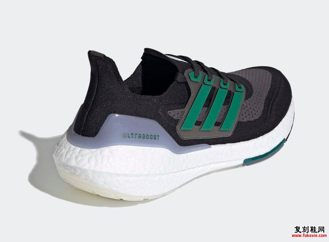 adidas Ultra Boost 2021 Black Sub Green FZ1923发售日期
