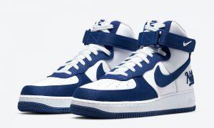 Nike Air Force 1 High EMB Dodgers Rush Blue DC8168-100发售日期