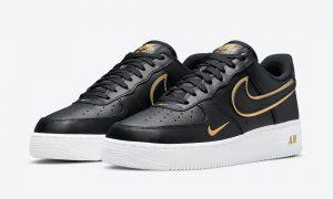 Nike Air Force 1 Low Black White Gold DA8481-001发售日期信息
