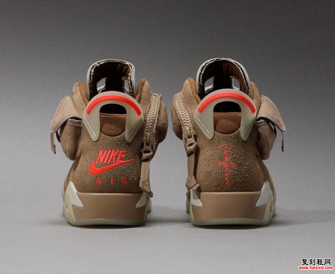 Travis Scott x Air Jordan 6 British Khaki DH0690-200发售信息价格