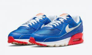 Nike Air Max 90 Blue White Crimson DM8316-400发售日期