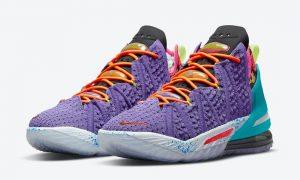 Nike LeBron 18 Psychic Purple DM2813-500发售日期