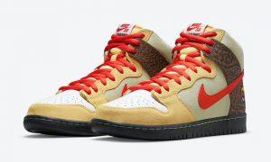 彩色溜冰鞋 Nike SB Dunk High Kebab and Destroy CZ2205-700 发布日期
