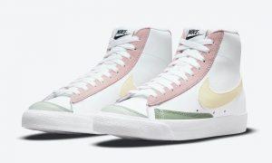 Nike Blazer Mid 77 Pink Lemon Green DN5052-100 发布日期信息