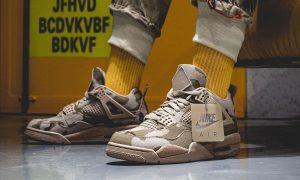 Aleali May Air Jordan 4 Camo Veterans Day DJ1193-200 On-Feet