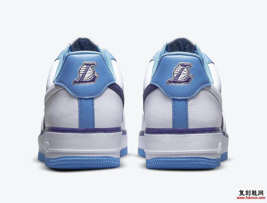 NBA 耐克 Air Force 1 Low 湖人队 75 周年 DC8874-101 发售日期