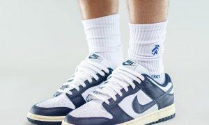 Nike Dunk Low Navy White Aged 发售日期