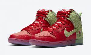 Nike SB Dunk High Strawberry Cough CW7093-600 发售日期价格